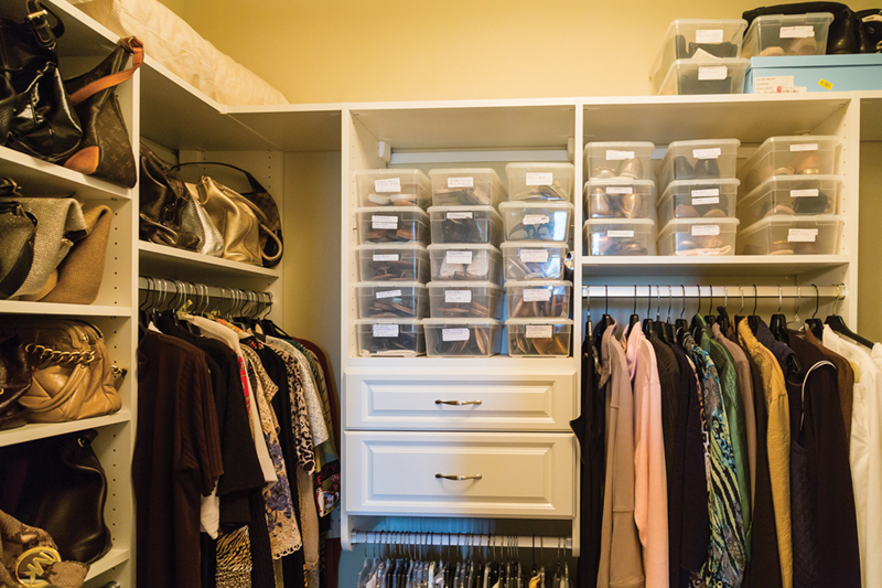 Using an NAPO organizer to organize your closets and drawers, puts everything in the right place