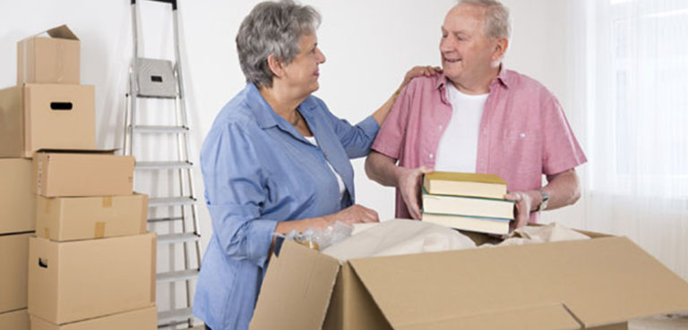 seniors can be helped by professional move managers to ease the downsizing and de-cluttering