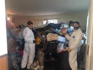 Clearing a hoarder's house