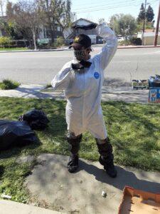 Ninja wearing protective gear