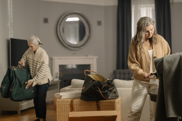 Downsizing and getting rid of clutter can make the move easier.
