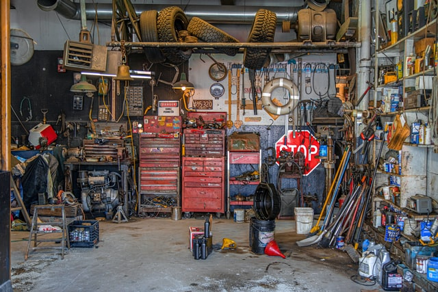 a messy garage means that declutter is needed