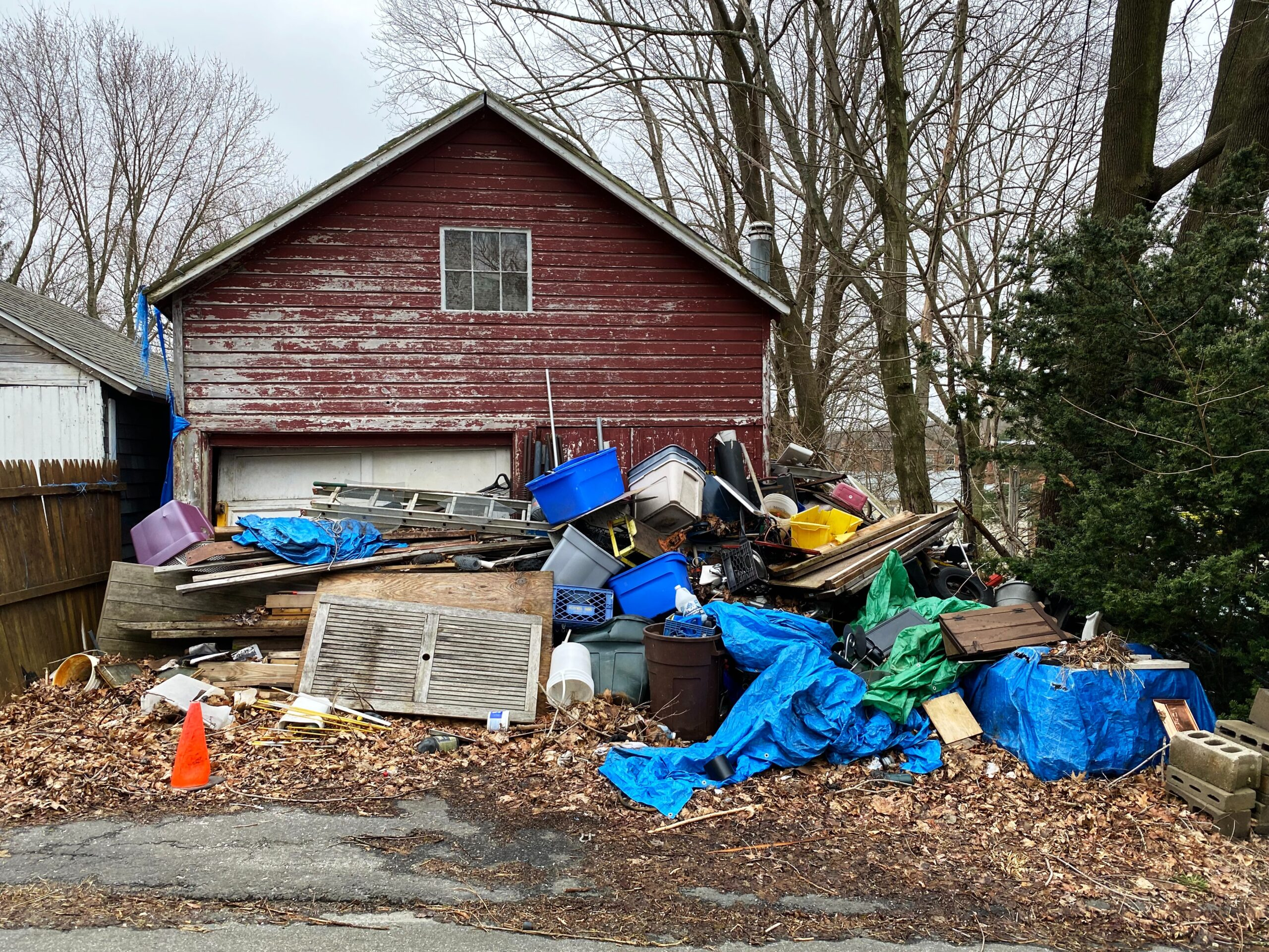 decluttering in a hoarding situation will take time and be messy during the process