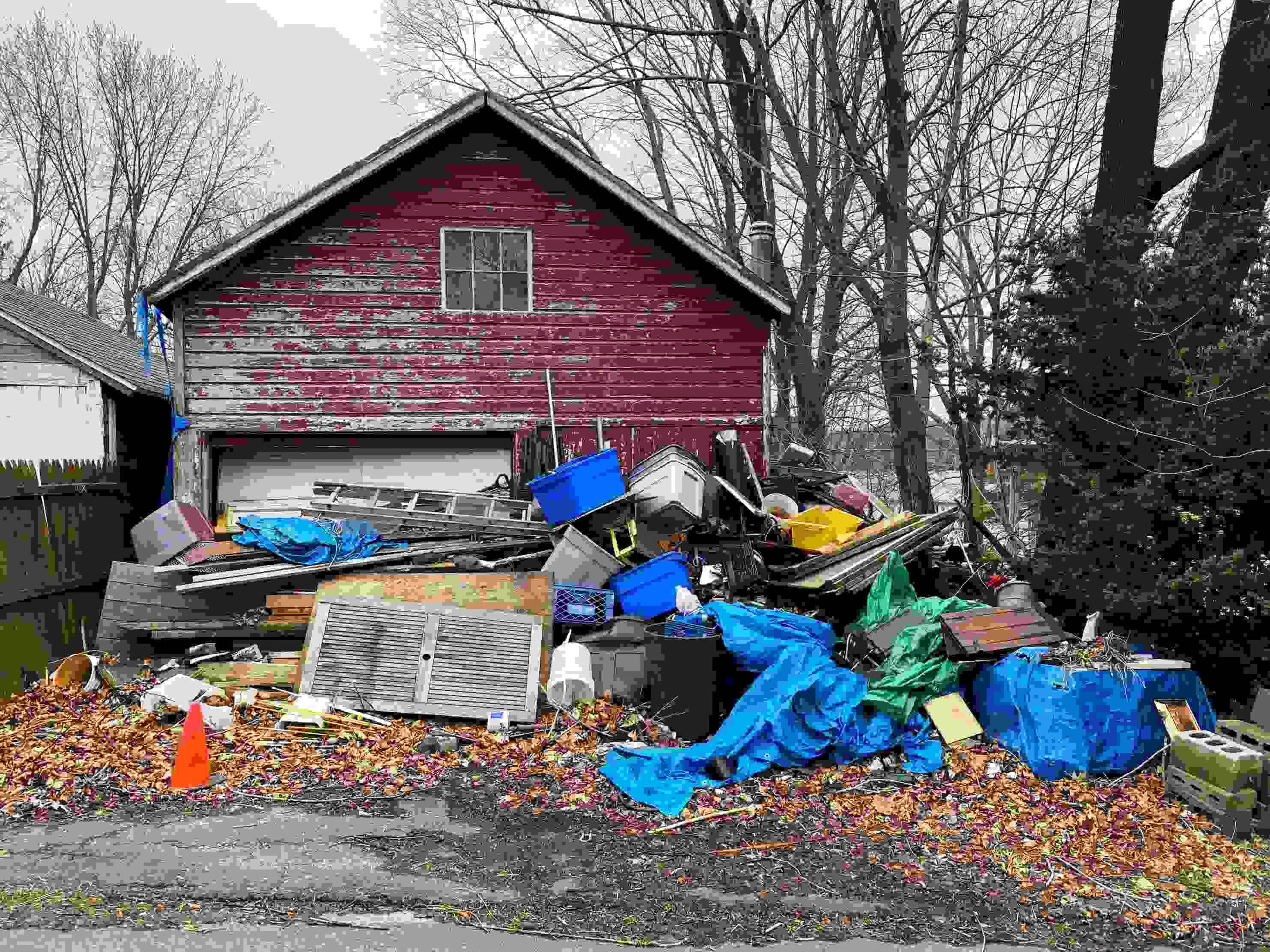 decluttering when there is a hoarding issue involved can take time