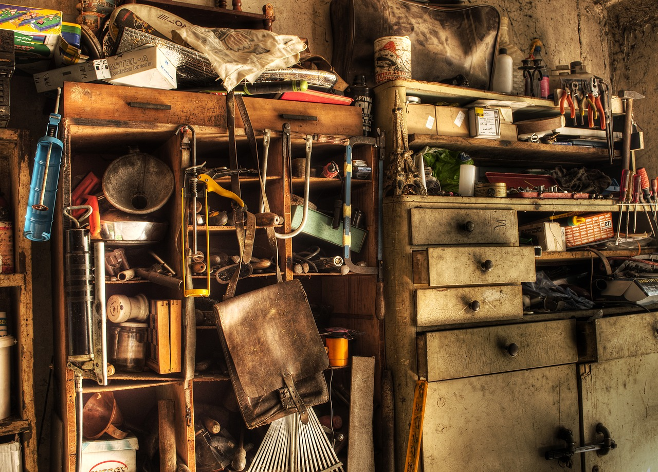 OLd stuff can pile up in a home, but there comes a time that decluttering must begin
